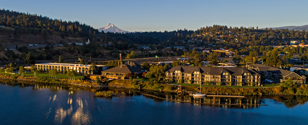 Sunrise over Hood River