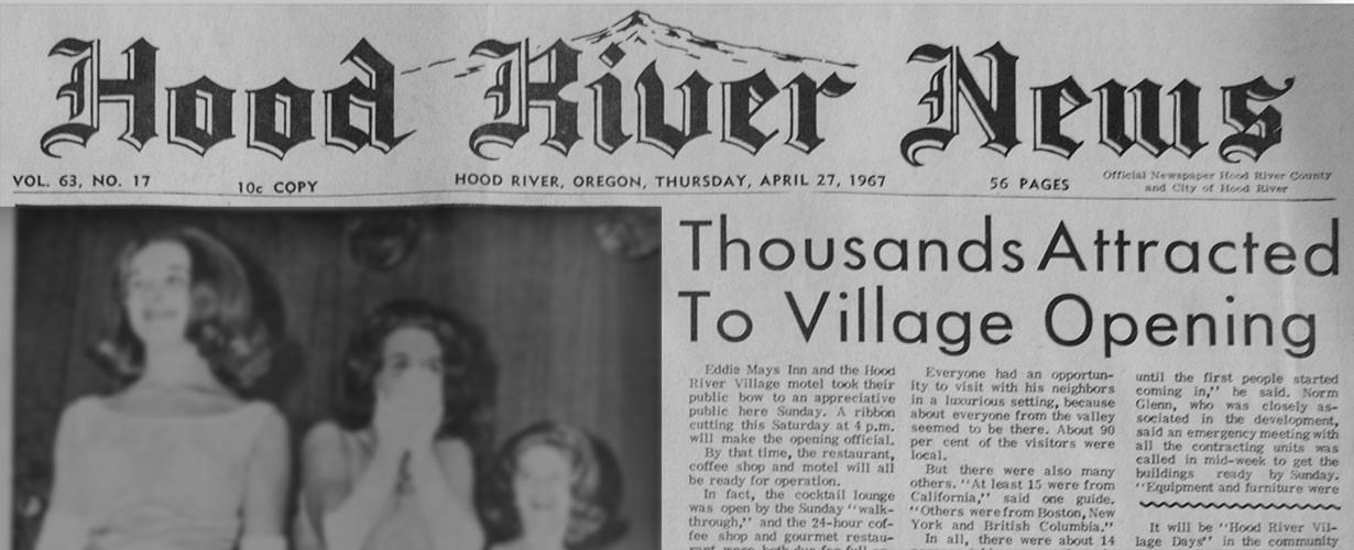 April 27,1967 Hood River News front page