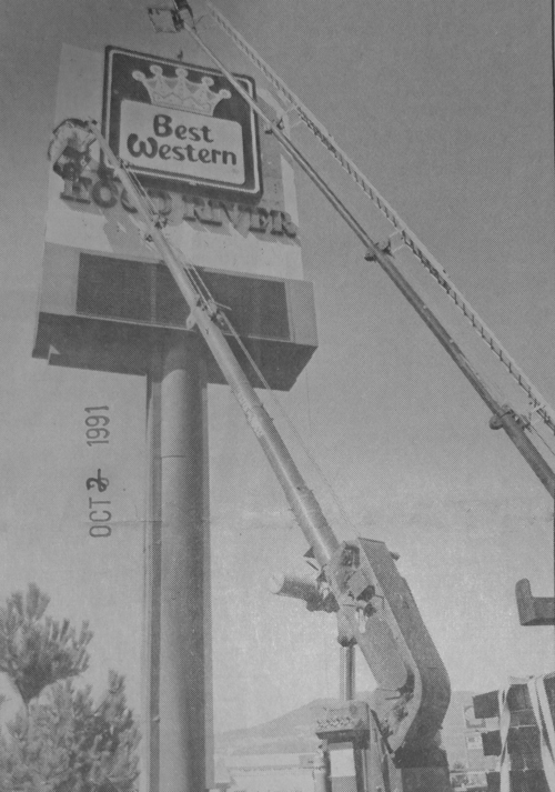 1991 sign install