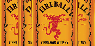 four-pack of Fireball